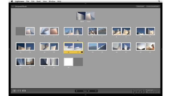 Changing page spread sequence: Lightroom 4 Essentials: 03 Creating Prints and Books