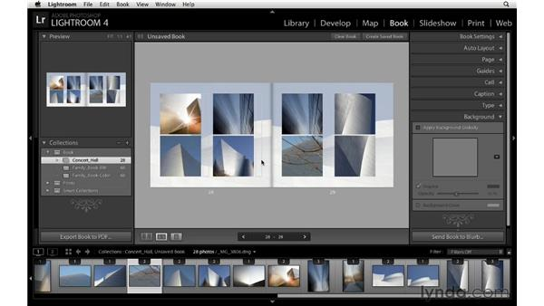 Changing the background: Lightroom 4 Essentials: 03 Creating Prints and Books