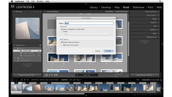 Saving a book layout: Lightroom 4 Essentials: 03 Creating Prints and Books