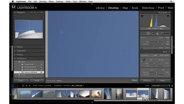 Making specific adjustments: Lightroom 4 Essentials: 03 Creating Prints and Books