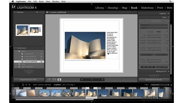 Customizing type, part 1: Lightroom 4 Essentials: 03 Creating Prints and Books