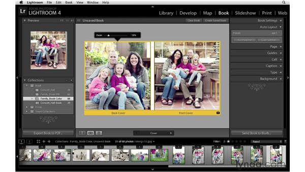 A conceptual approach to setting image sequence: Lightroom 4 Essentials: 03 Creating Prints and Books