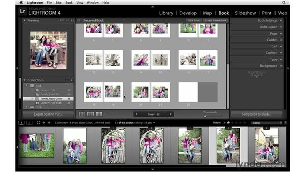 Reviewing the layout: Lightroom 4 Essentials: 03 Creating Prints and Books