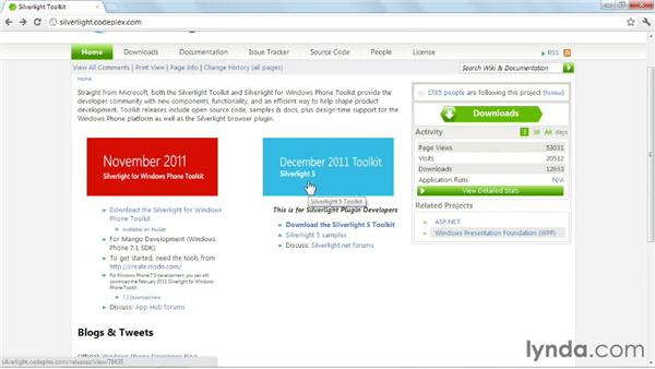 Installing the Silverlight Toolkit: Silverlight 5 Essential Training