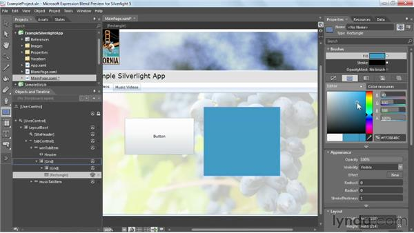 Getting to know the Visual Studio interface: Silverlight 5 Essential Training
