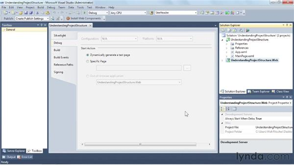 Understanding the Visual Studio project structure: Silverlight 5 Essential Training