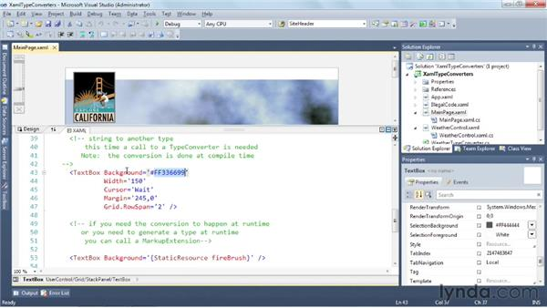 Converting XAML properties with TypeConverters: Silverlight 5 Essential Training