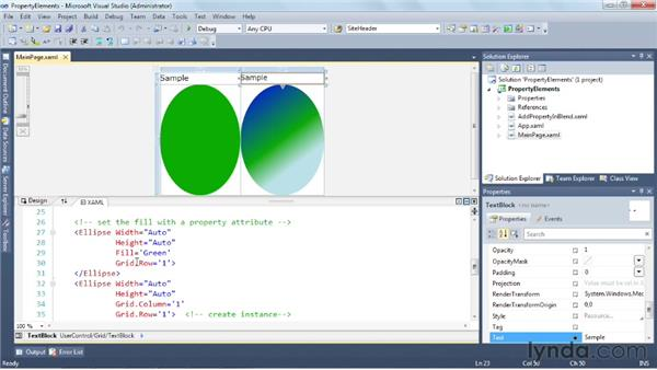 Working with Property elements: Silverlight 5 Essential Training