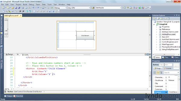 Exploring sophisticated layouts with the Grid: Silverlight 5 Essential Training