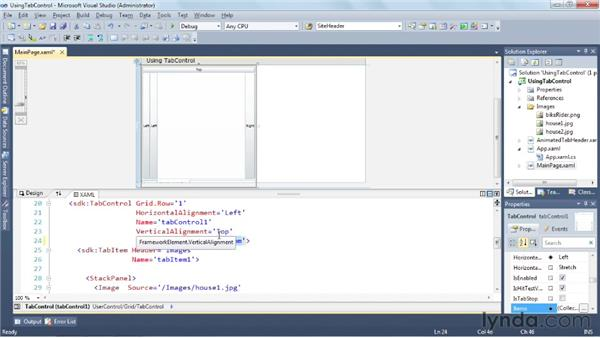 Using the TabControl: Silverlight 5 Essential Training
