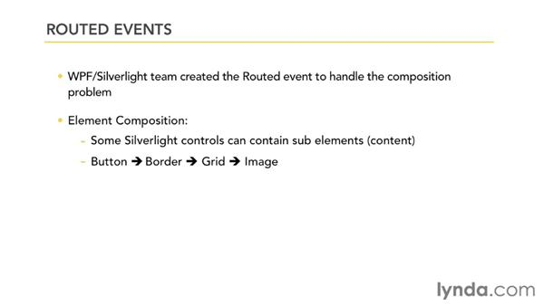 Understanding routed events: Silverlight 5 Essential Training