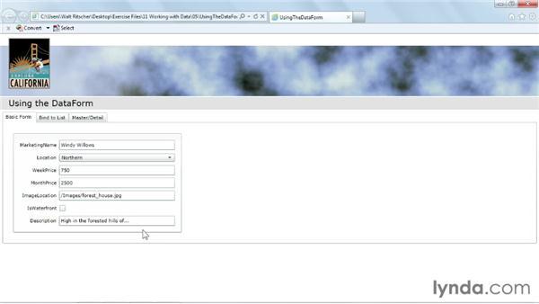 Using the DataForm: Silverlight 5 Essential Training