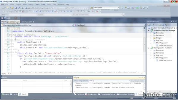 Storing data on the client: Silverlight 5 Essential Training