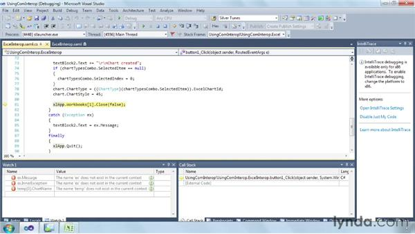 Using COM Interop to interact with Microsoft Office : Silverlight 5 Essential Training