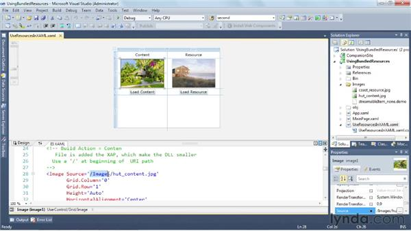 Using resource files: Silverlight 5 Essential Training