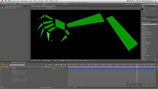 Creating the arm: After Effects: Rigging a Character Arm for Animation