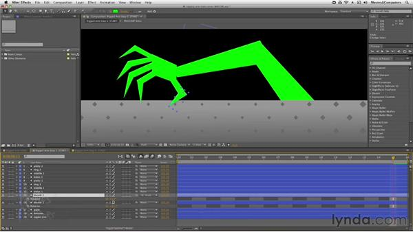 Parenting the arm components: After Effects: Rigging a Character Arm for Animation
