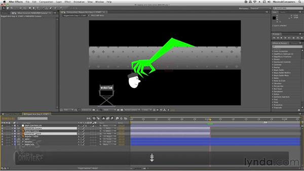 Picking up objects with the arm: After Effects: Rigging a Character Arm for Animation
