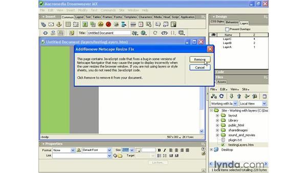layer position and netscape 4x: Intermediate Dreamweaver MX