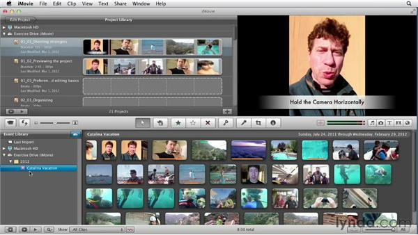 Using the exercise files: Creating a Vacation Video with iMovie