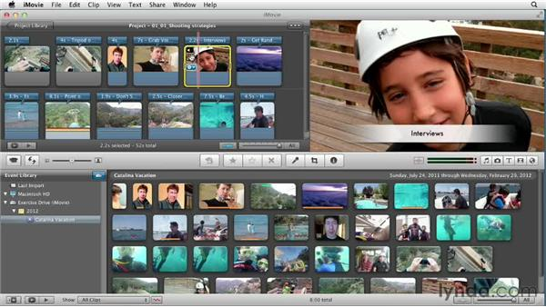 Capturing the moment: things to remember when shooting: Creating a Vacation Video with iMovie