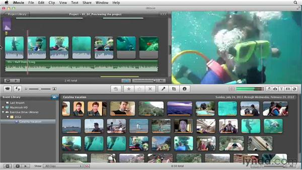 Previewing the project: Creating a Vacation Video with iMovie
