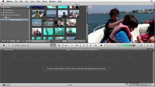 Exploring important settings and editing basics: Creating a Vacation Video with iMovie