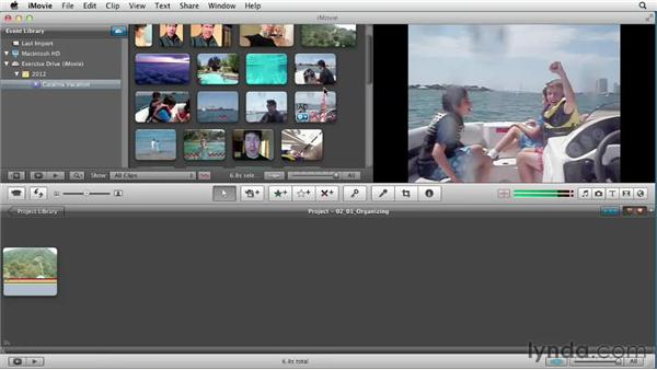 Organizing your story: Creating a Vacation Video with iMovie