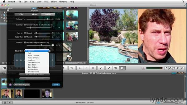 Reducing background noise: Creating a Vacation Video with iMovie