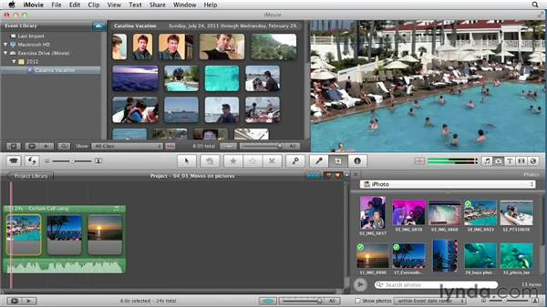 Animating motion to pictures: the Ken Burns effect: Creating a Vacation Video with iMovie