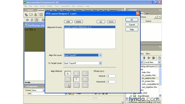 layout designer - layer method: Intermediate Dreamweaver MX