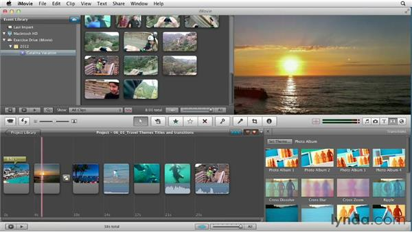 Using travel themes to spice up your video: Creating a Vacation Video with iMovie