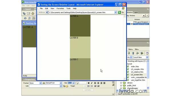 layout designer - screen method: Intermediate Dreamweaver MX