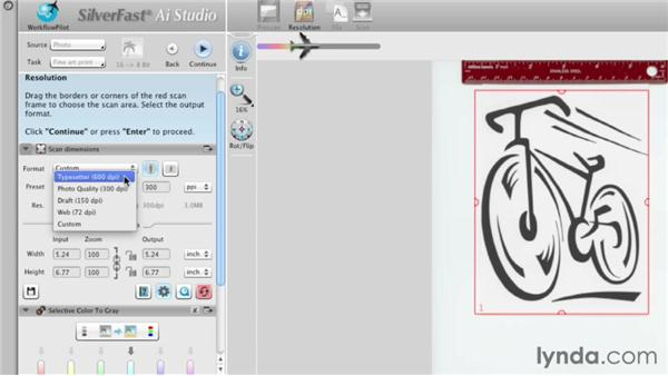 Scanning simple line art : Scanning with SilverFast
