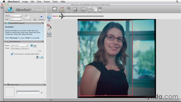 Scanning a positive piece of film: Scanning with SilverFast