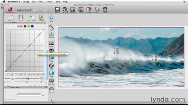 Scanning landscape color photos: Scanning with SilverFast