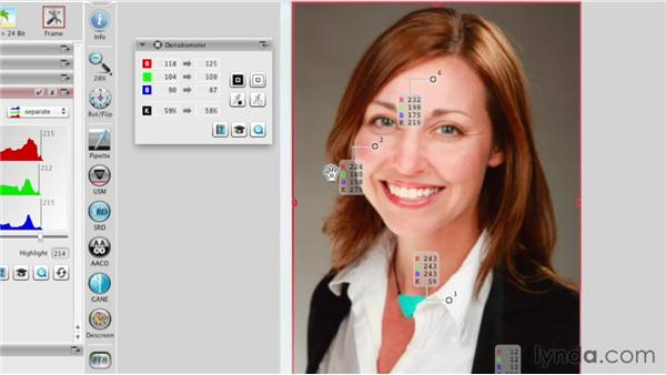 Scanning color portrait photos: Scanning with SilverFast