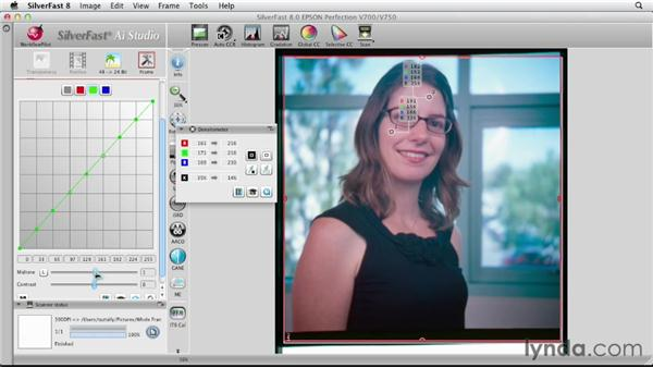 Scanning a piece of positive color film: Scanning with SilverFast