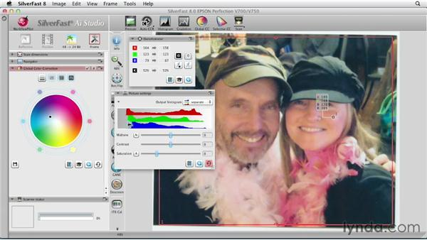 Making global color corrections: Scanning with SilverFast