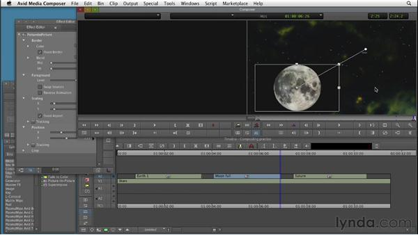 Using basic compositing effects: Editing with Composites and Effects in Avid Media Composer