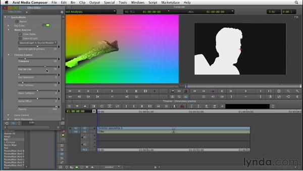 Using SpectraMatte to pull chroma keys: Editing with Composites and Effects in Avid Media Composer