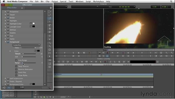 Working with luma keys: Editing with Composites and Effects in Avid Media Composer