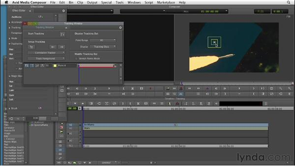 Motion tracking AniMatte masks: Editing with Composites and Effects in Avid Media Composer