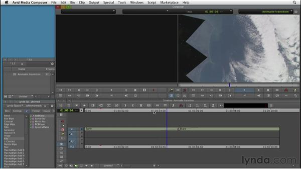 Using AniMatte effects as transitions: Editing with Composites and Effects in Avid Media Composer