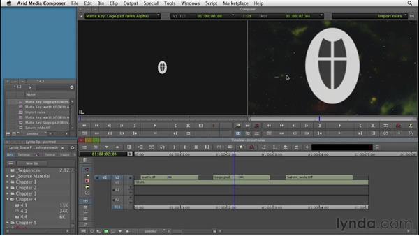 Importing graphics properly: Editing with Composites and Effects in Avid Media Composer