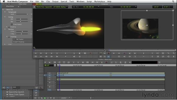 Importing and animating matte keys: Editing with Composites and Effects in Avid Media Composer