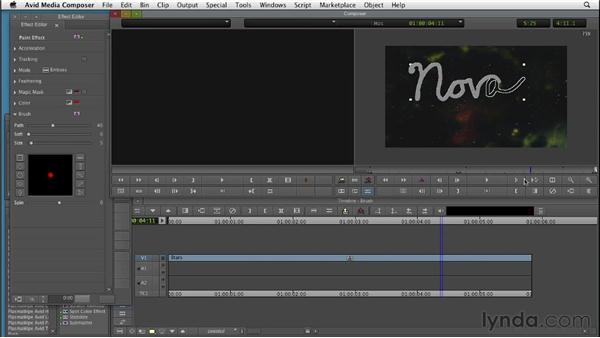 Writing words onscreen with the Brush tool: Editing with Composites and Effects in Avid Media Composer
