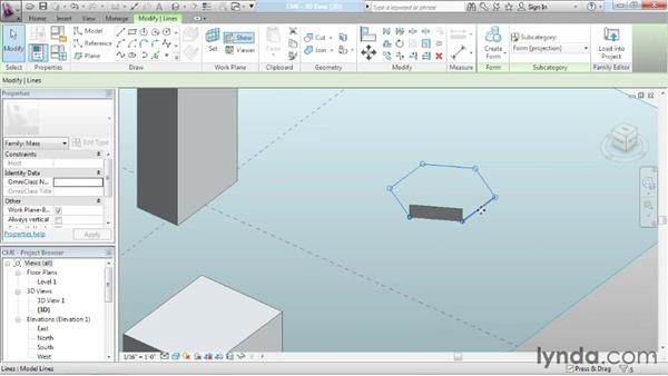 Understanding the massing environment: Advanced Modeling in Revit Architecture