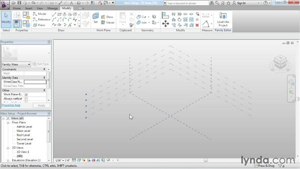 Setting up a massing file: Advanced Modeling in Revit Architecture