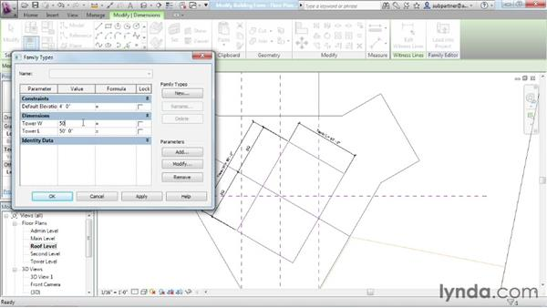 Modifying building forms: Advanced Modeling in Revit Architecture